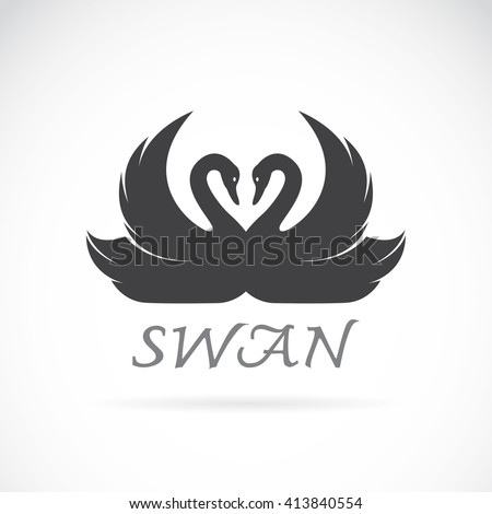 vector images of swan design on