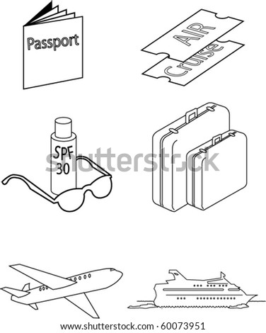 vector images of travel necessities