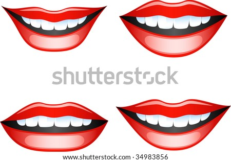 vector images smiling female