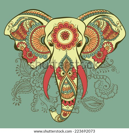 Henna Elephant Coloring Pages Elephant on The Henna