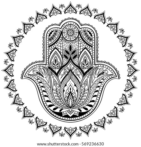 Vector Images Illustrations And Cliparts Vector Indian Hamsa Hand