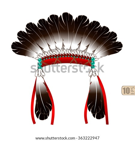 vector indian war bonnet