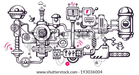 vector industrial illustration