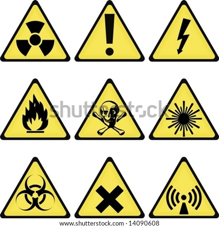 vector. industrial/laboratory warning signs