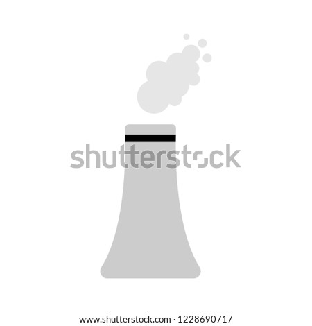 vector industrial power plant. factory building icon