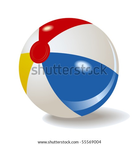vector inflatable beach ball - stock vector
