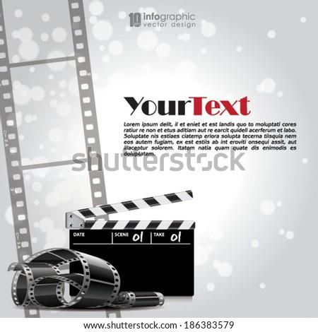 vector info graphic background - movie, film strip