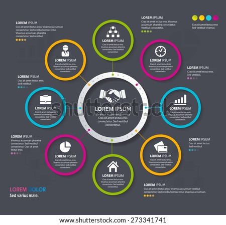Vector Info graphic design circles. Eps 10. Can be used for diagram, banner, number options, workflow layout, step up options or web design.
