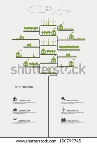 vector info graphic   eco