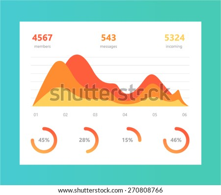 Vector info graphic illustration. Information Graphic Chart in modern flat style
