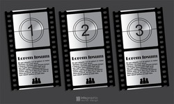 vector info graphic steps 1 2 3 - movie & video