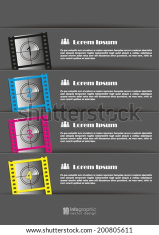 vector info graphic steps 1 2 3