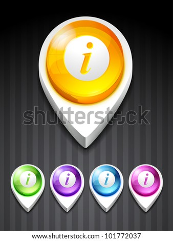 vector info icon 3d style symbol