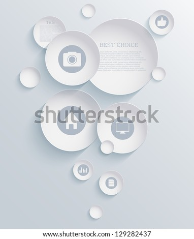 Vector infographic background design. Eps10