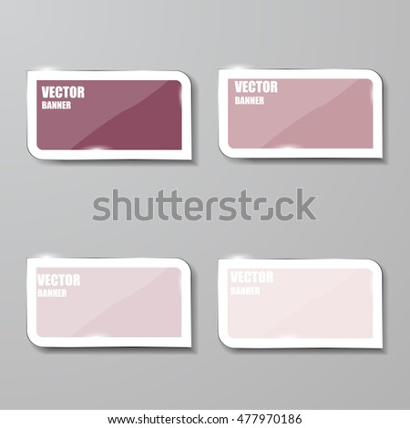 Vector infographic. banners set.Glass #477970186