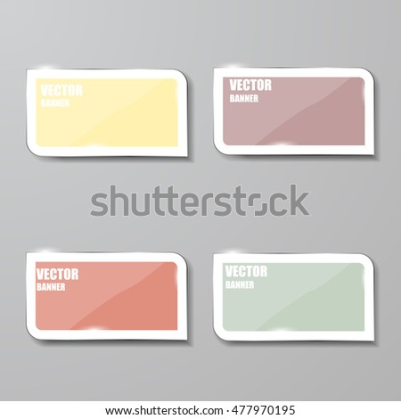 Vector infographic. banners set.Glass #477970195