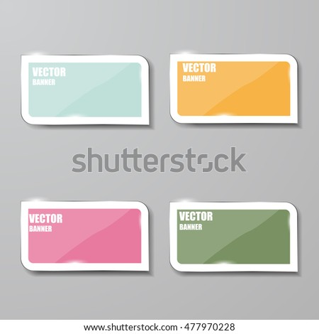 Vector infographic. banners set.Glass #477970228