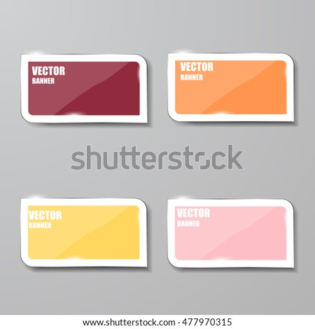 Vector infographic. banners set.Glass #477970315