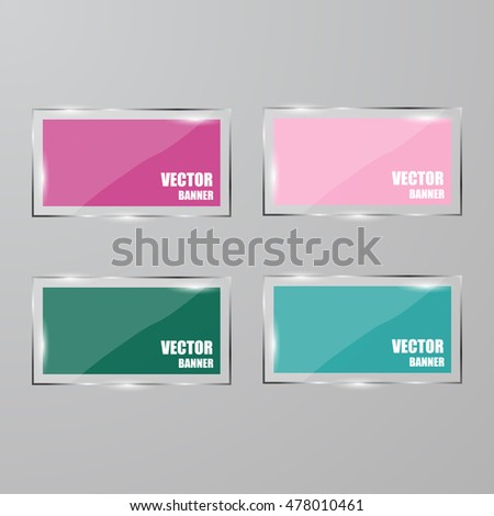 Vector infographic. banners set.Glass #478010461