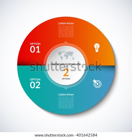 vector infographic circle