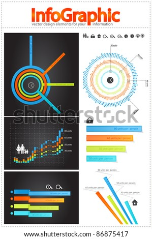 Vector infographic collection. Charts, bars, diagrams