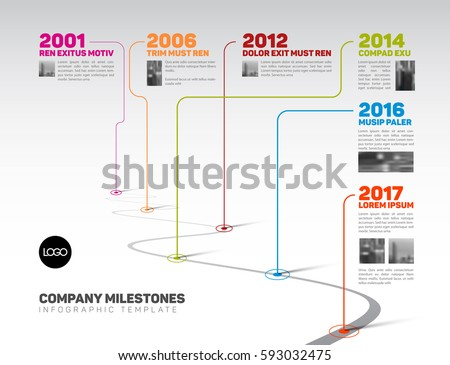 Free Retro Timeline Template Vector Download Free Vector Art
