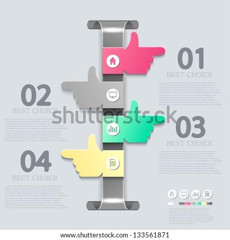 Vector infographic design. Eps10