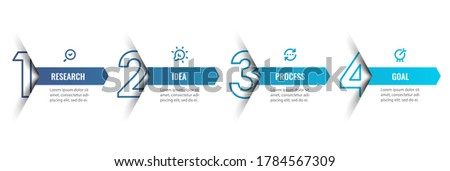 Vector Infographic design template with icons and 4 options or steps. Can be used for process diagram, presentations, workflow layout, banner, flow chart, info graph. Photo stock ©
