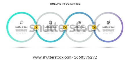 Vector Infographic design template with 4 options or steps.  Can be used for process diagram, presentations, workflow layout, banner, flow chart, info graph.