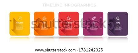 Vector Infographic design with 5 options or steps. Infographics for business concept. Can be used for presentations banner, workflow layout, process diagram, flow chart, info graph Foto stock ©