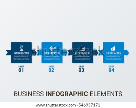 Vector infographic, diagram chart, graph presentation. Business startup concept options, parts, steps, processes. Info graphic text data template.