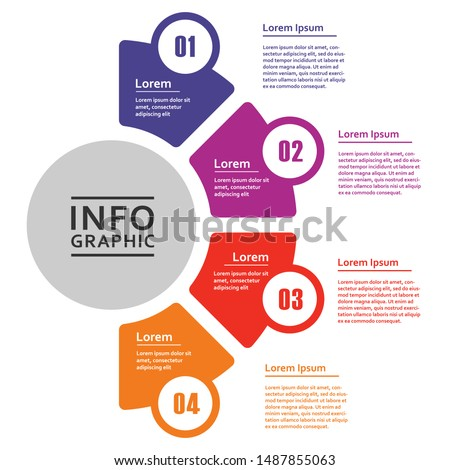 Vector infographic diagram, template for business, presentations, web design, 4 options. Stockfoto ©