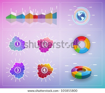 Vector infographic elements. Elements are layered separately in vector file.