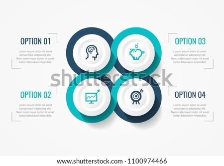 Vector Infographic label design with icons and 4 options or steps. Infographics for business concept. Can be used for presentations banner, workflow layout, process diagram, flow chart, info graph