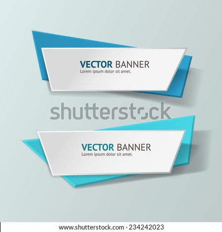 vector infographic origami
