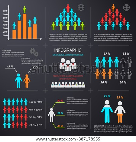 vector infographic people icons