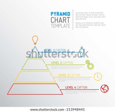 Pyramid Chart Template Vector Free - Download Free Vector Art ...