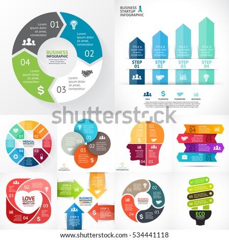 vector infographic set