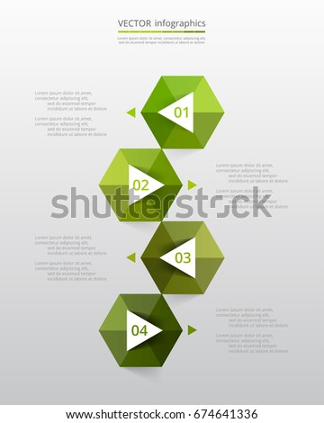 Vector infographic template. Business concept with 4 options, steps, parts, segments. Banner for cycling diagram, chart, business presentation, annual report, web design, trainings.