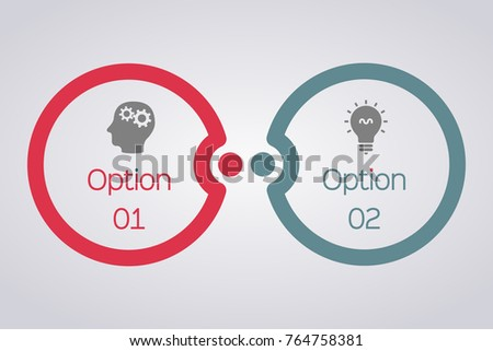 Vector infographic template for diagram, graph, presentation, chart, business concept with 2 options.