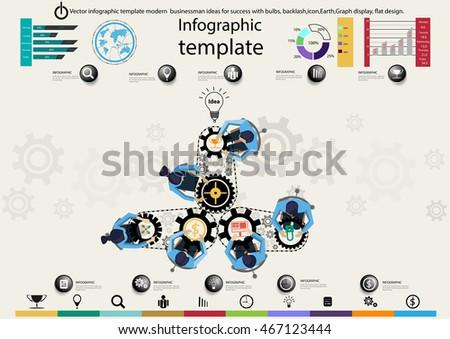 Vector Infographic Template Modern Businessman Ideas For Success ...