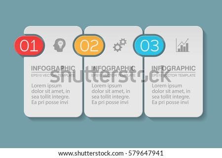Vector infographic template, 3 options.