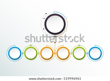 Free vector circle business concept download free vector art vector infographic template with 3d paper label integrated circles business concept with options accmission Images