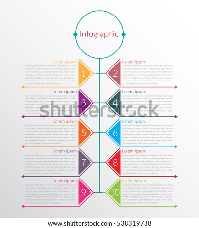 Vector infographic templates for detailed reports from the various process steps.