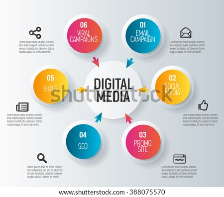 vector infographics about media