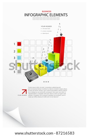 Vector infographics. Charts, bars, graphs