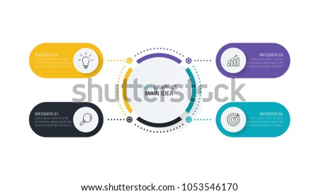 Vector infographics design template.Business concept with 4 steps,options or processes.Can be used for workflow layout, diagram, presentation.