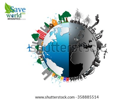 vector infographics design with