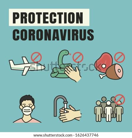 vector infographics elements showing how to protection coronavirus symptoms