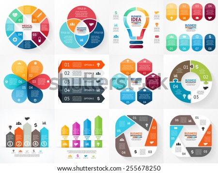 vector infographics set